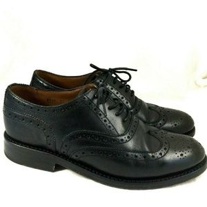 GRENSON Rose Leather Wingtip Black Brogue Oxford